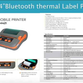Blutooth Thermal Label Printer